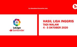 Hasil Liga Spanyol Tadi Malam 4 5 Oktober 2020